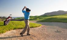 Eine Runde Golf