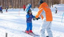 Kind auf Skiern