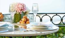 Essen mit schönen Ausblick