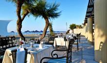 Essen mit Blick auf Strand