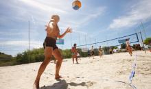 Beachvolleyball hält fit