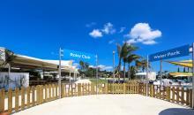 Eingänge zum Wasserpark und den Kinderclubs