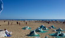 Sportaktiv am Strand