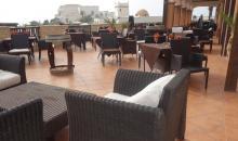 Restaurant auf Terrasse