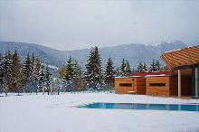 Pool im Schnee
