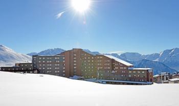 Sonne und Schnee