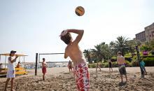 Spa� beim Beachvolleyball