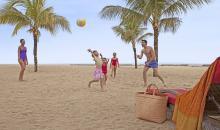Ballspiele am Strand