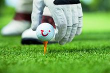 Golfball mit Tui Logo