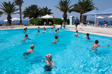 Aqua Fit im Outdoor-Pool