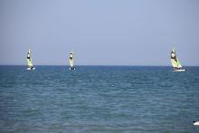 Katamarane auf dem Meer