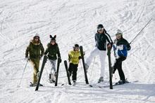 Gruppe im Schnee