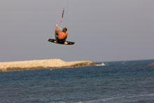Kitesurfer in der Luft