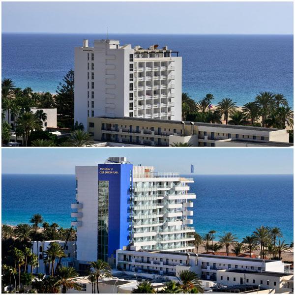 Alter und Neuer Torre im Jandia Playa