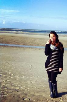 Ann-Kathrin am Strand