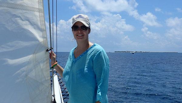 Carmen auf dem Boot