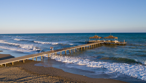 Steg im Meer