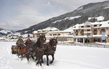 Pferdekutschtfahrt im Schnee