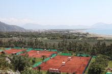Tennisplätze von Oben
