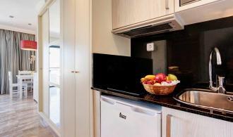 Wohnbeispiel mit Kühlschrank