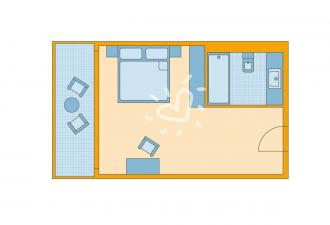 Doppelzimmer Gartenseite