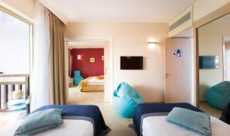 Vierbettzimmer mit Meerblick