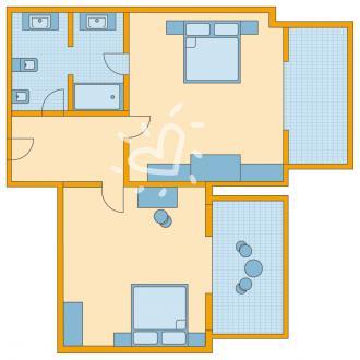 Familienzimmer ohne Meerblick
