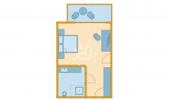 Doppelzimmer/Einzelzimmer Neubau