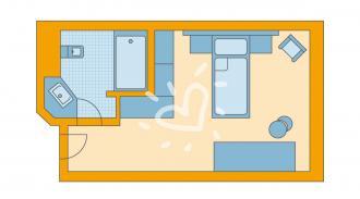 Einzelzimmer Landseite