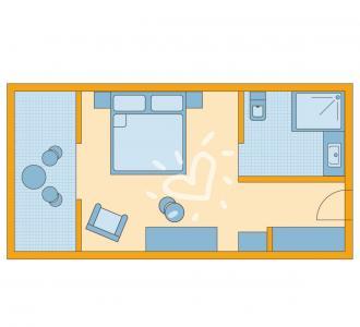 Doppelzimmer Erdgeschoss