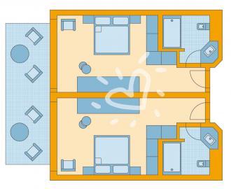 Familien Doppelzimmer Seeseite