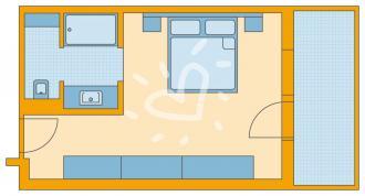Doppelzimmer/ Einzelzimmer mit Grimmingblick