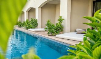 Doppelzimmer Swim Up – Gartenblick