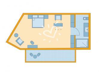 Doppelzimmer Superior Meerblick Typ 1