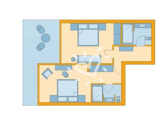 Familienzimmer Superior mit Meerblick