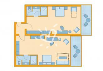 Familen- / Doppelzimmer Meerblick