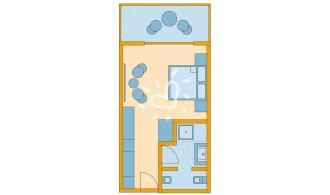 Doppelzimmer/Einzelzimmer mit Poolblick