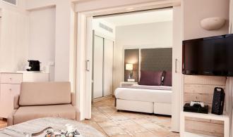 One bedroom swim up pool view suite
