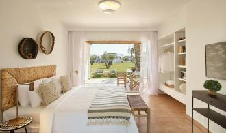 Doppelzimmer Bungalow mit Gartenblick
