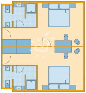 Familienzimmer mit Verbindungstür