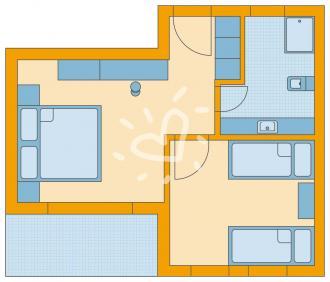 Familienzimmer im Familienblock