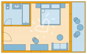 Doppelzimmer Superior mit Meerblick