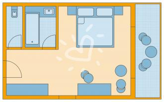 Doppelzimmer ohne Poolblick