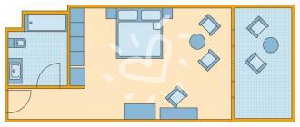 Doppelzimmer Family mit Meerblick