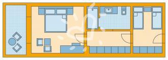Familienzimmer mit Meerblick