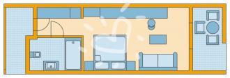 Doppelzimmer Typ 2 mit Meerblick