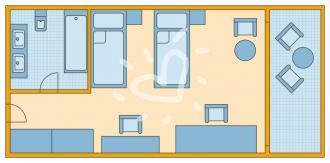 Palace Doppelzimmer mit Meerblick