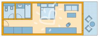 Doppelzimmer Meerblick Typ 1