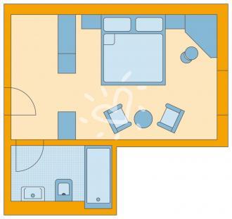 Doppelzimmer Standard mit Balkon