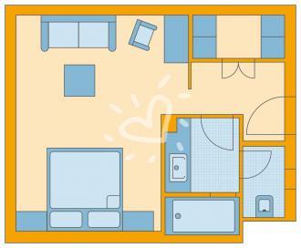 Single-mit-Kind-Zimmer